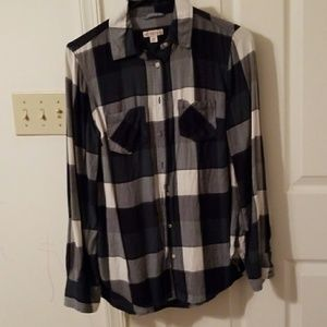 Merona plaid button front shirt